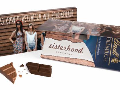 Lindt Schokoladentafel in Mailingmappe