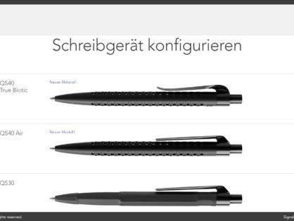 Kugelschreiber mit Firmenlogo konfigurieren